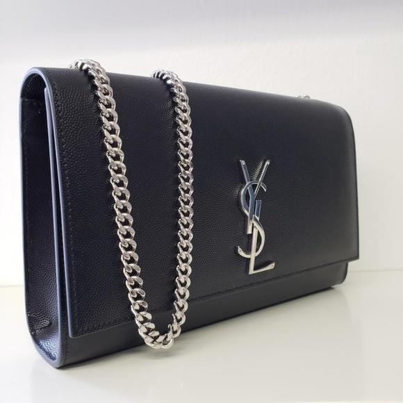 f6b1797715 Monogram Kate Grain De Poudre Leather Shoulder Bag NWT
